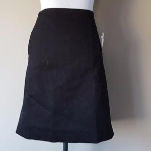 Skirt Black Cotton Blend Premise Size 10 Tags